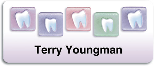 Teeth Tiles Name Tag Small