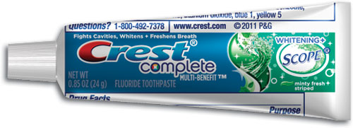 Crest Complete Multi-Benefit Whitening Plus Scope Toothpaste