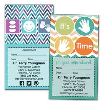 Shop Chiropractic Sticker Appointment Cards