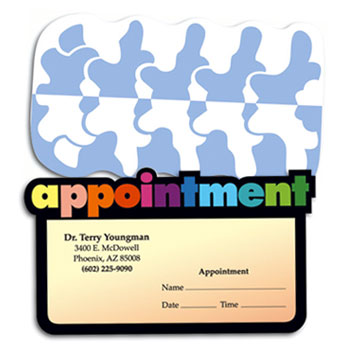 Shop Chiropractic Die-cut Appointment Cards