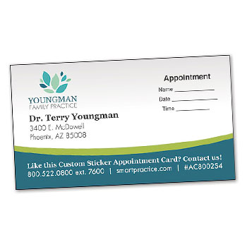 Shop Chiropractic Custom Appointment Cards