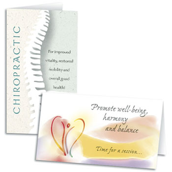 Shop Chiropractic Folding Appointment Cards