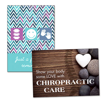 Shop Chiropractic Reminder Cards