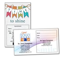 Shop Dental Appointment Cards