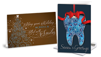 Dental holiday christmas and winter themed cards smartpractice dental premium holiday folding cards m4hsunfo