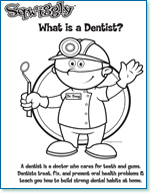 dentist coloring pages Free Kid's Dental Coloring Sheets, Activities and Charts  dentist coloring pages