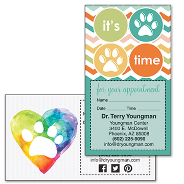 Veterinary Appointment Cards
